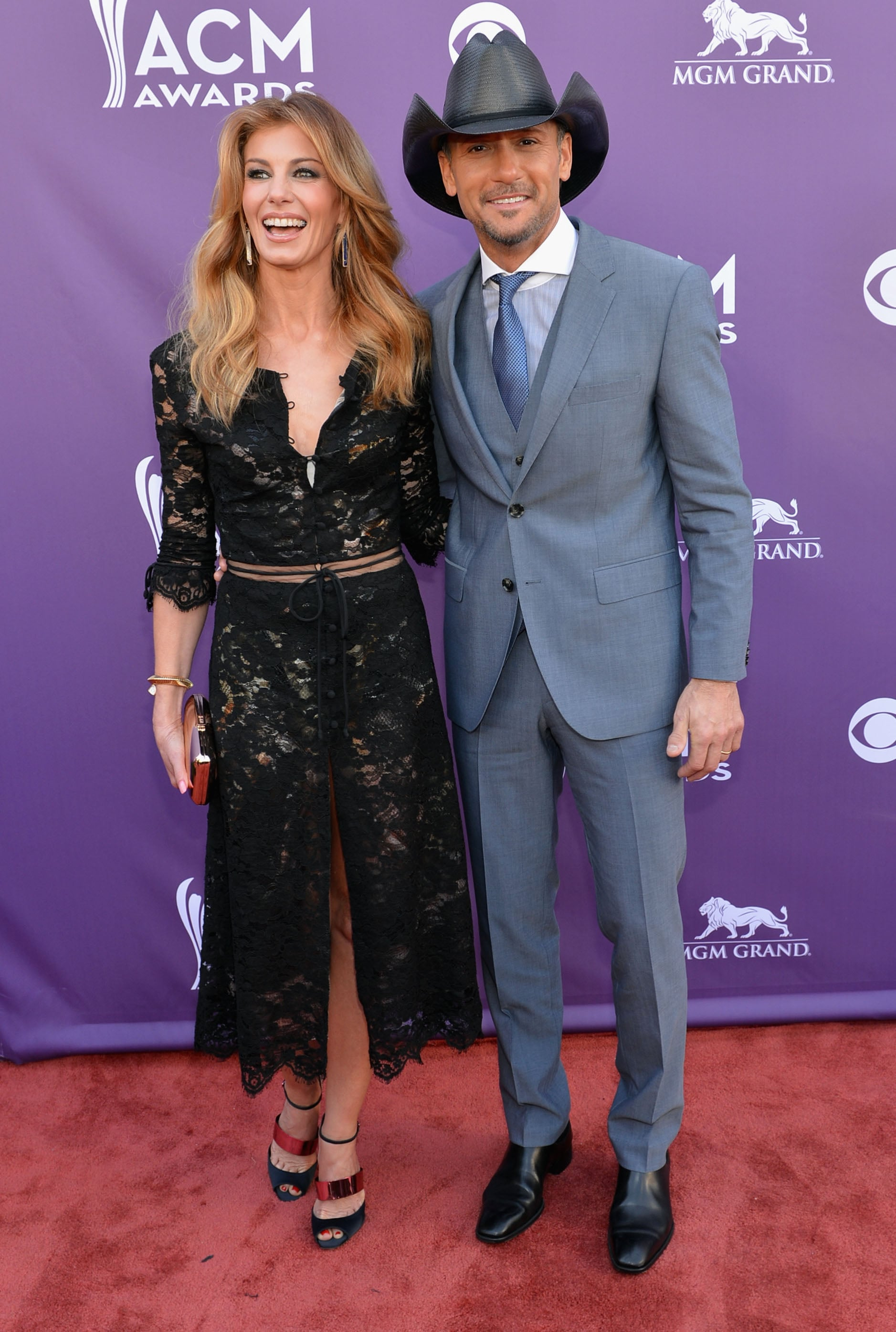 Faith Hill and Tim McGraw at the ACM Awards.