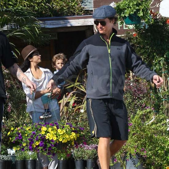Pictures of Matthew McConaughey and Camila Alves With Levi at Flower Garden