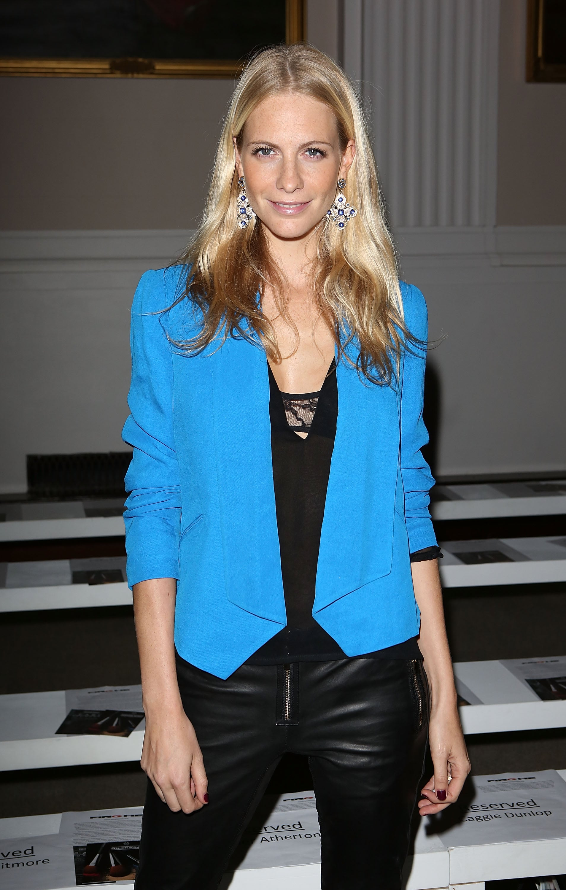 Poppy Delevingne front row at Pinghe.