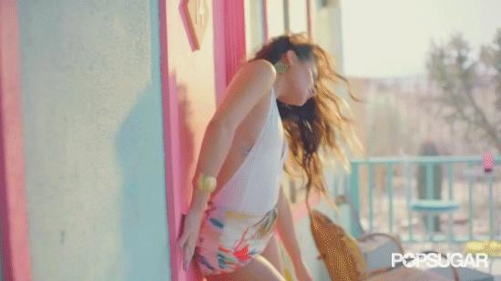 Phew, looks like she made it out OK. Such hot moves! Loving this door dancing. Kind of want to paint my door pink now.
