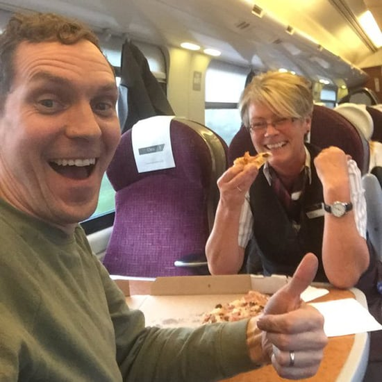Guy Orders Pizza on a Train Twitter Story