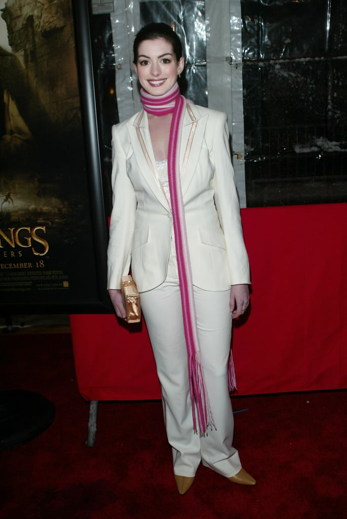 Scarfing it in 2002 at the Lord of The Rings: The Two Towers  World Premiere in NYC.
