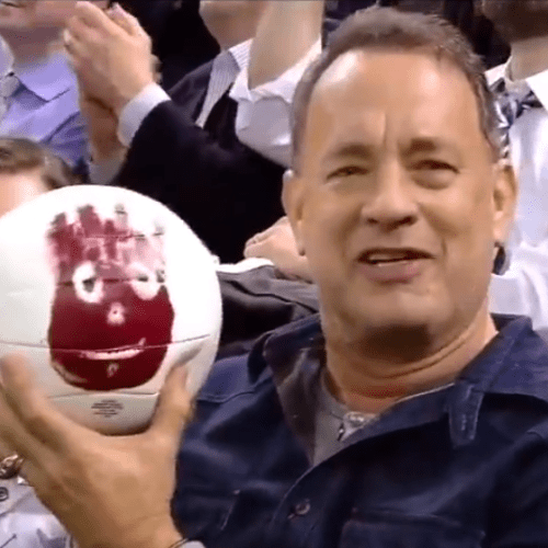 Tom Hanks Reunited With Wilson the Volleyball   Video