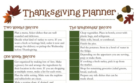 Download Our Thanksgiving Planner!