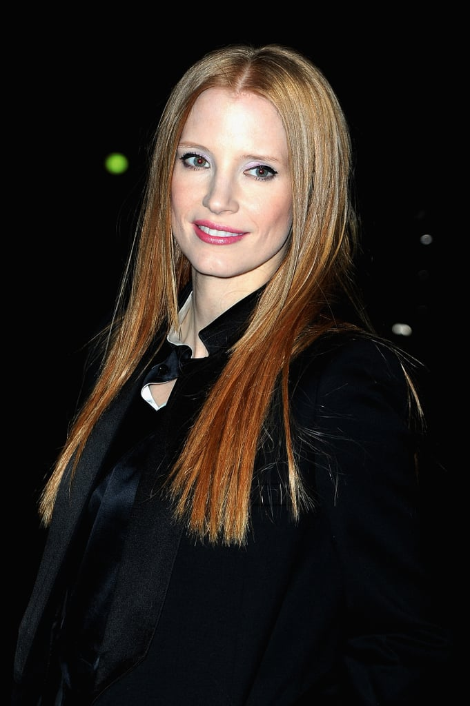 Jessica Chastain showed off a new straight 'do.