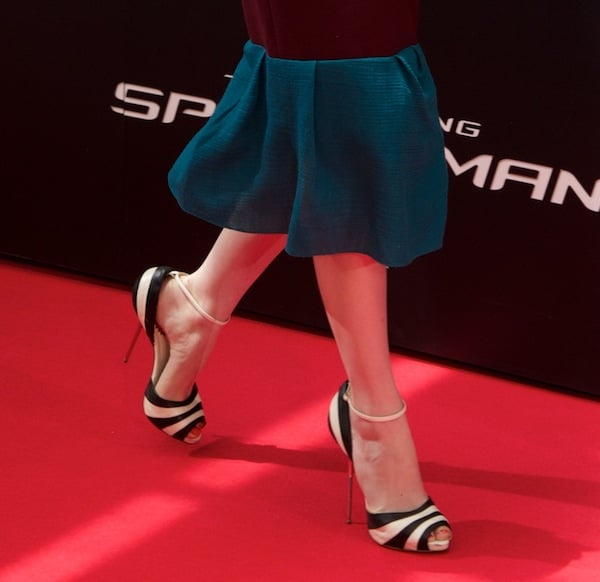 These striped Christian Louboutin sandals are a well-placed accent.