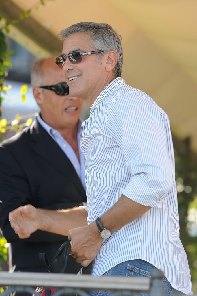 George Clooney in jeans at the Venice Film Festival.