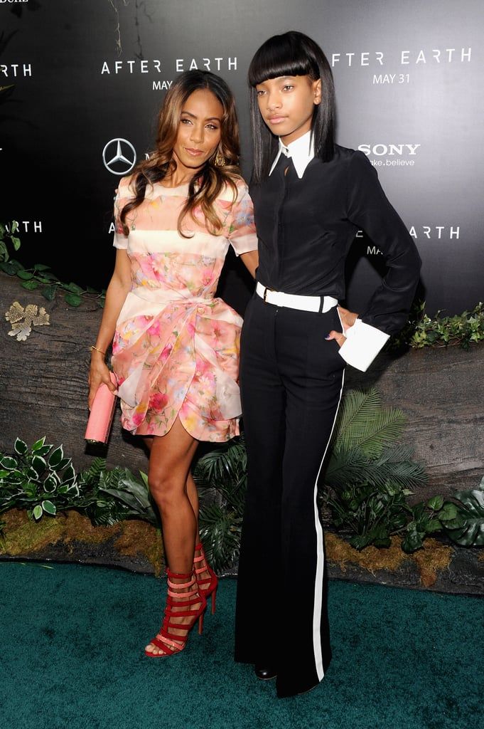 Jada Pinkett Smith, in Blumarine, and Willow Smith at the After Earth premiere in New York City.