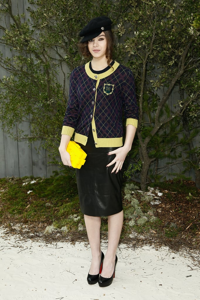 Hailee Steinfeld attended the Chanel 2013 Spring/Summer Haute Couture fashion show on Tuesday.