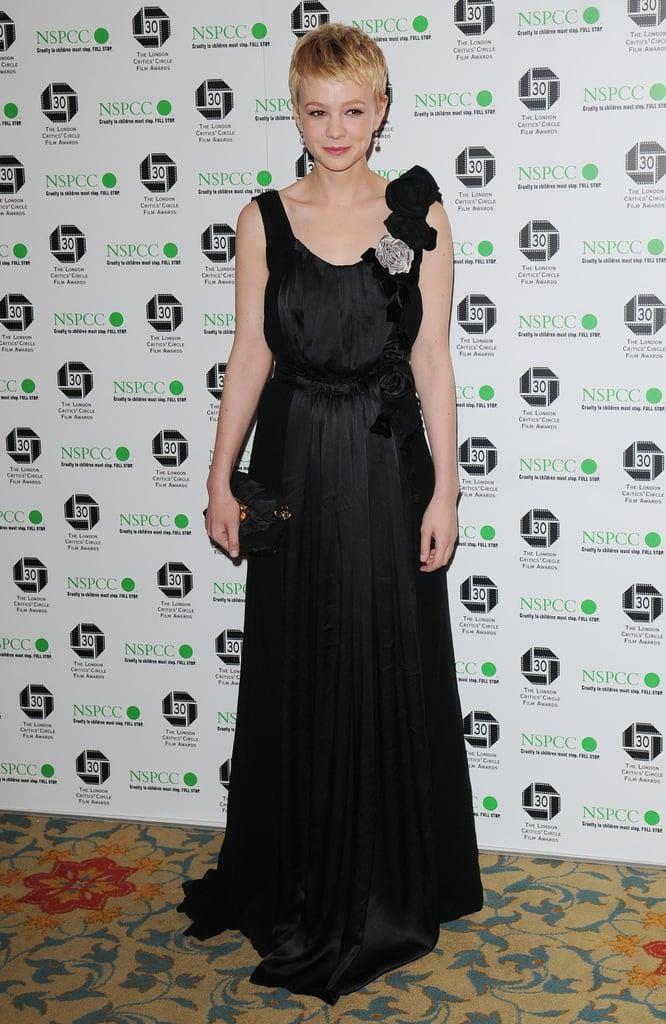 Carey Mulligan in Nina Ricci at the 2013 London Critics' Circle Awards