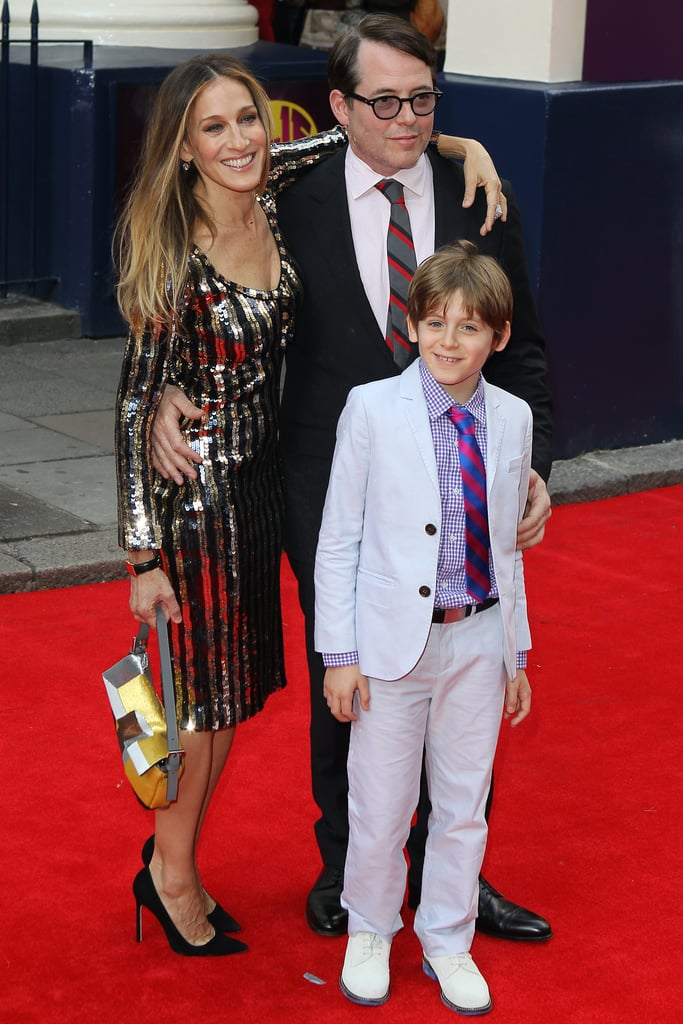 Cute family! Sarah Jessica Parker, Matthew Broderick and their son James attended the media night for Charlie and the Chocolate Factory at the Theatre Royal in London on June 25.