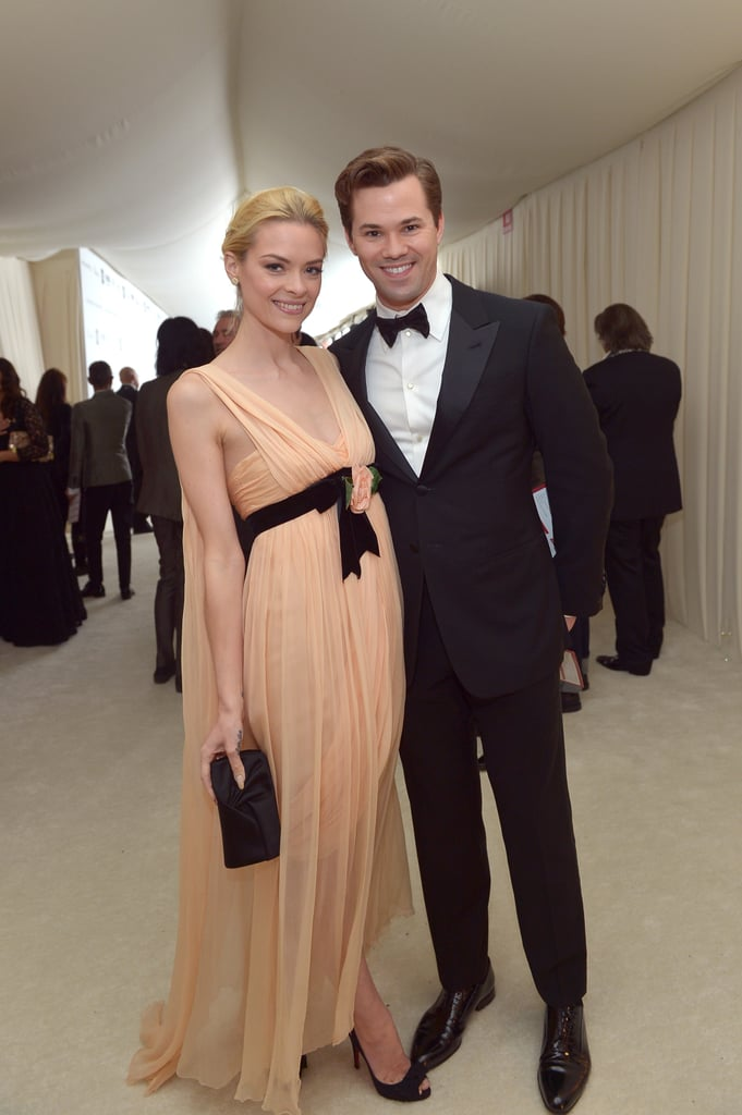 Jaime King and Andrew Rannells hung out at Elton John's Oscar party.