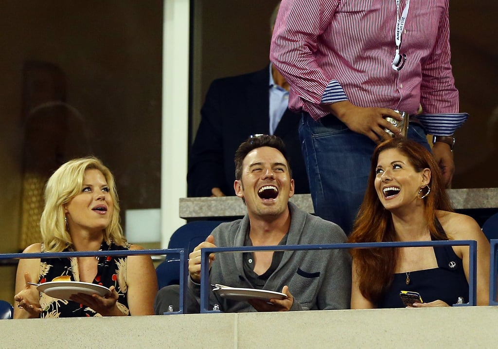It was a Smash reunion for Debra Messing and Megan Hilty, who were joined by Megan's boyfriend Brian Gallagher.