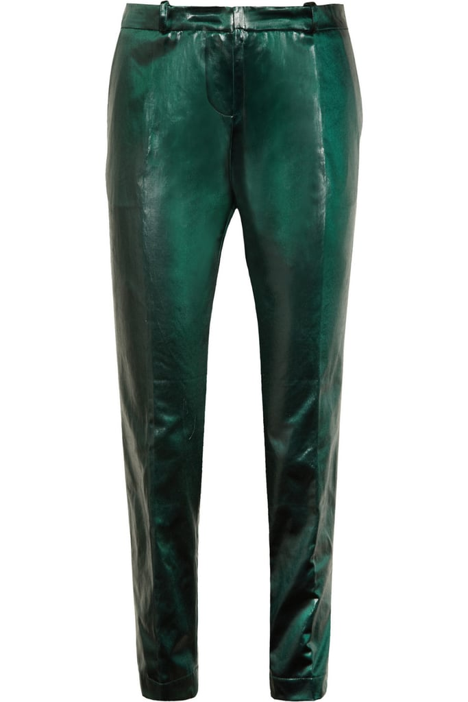 When we say get your party pants on, we're talking about these: Vanessa Bruno's Moustique coated cotton-blend pants ($138, originally $460) are a perfect alternative to your holiday party dress.