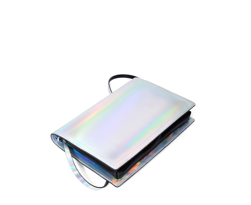 A carryall that's also iridescent?! Sign us up for this Zara messenger bag ($36).