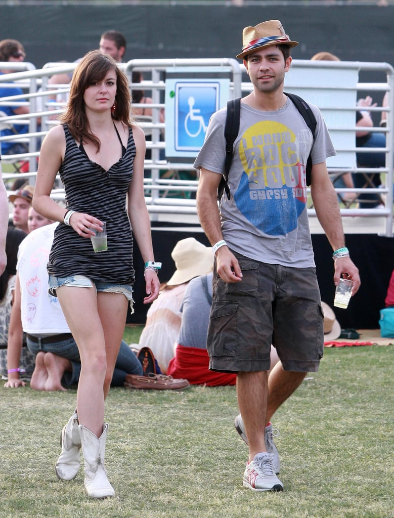 Adrian Grenier met up with a female friend in 2010.