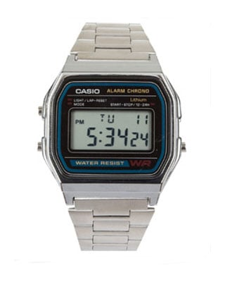 Stainless Steel Digital Watch ($25)