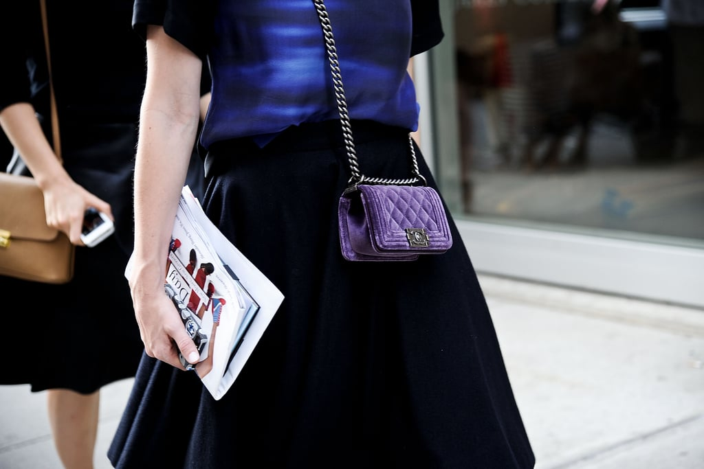 A mini Chanel is ideal for stashing a smartphone.