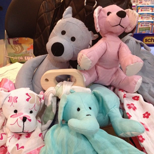 Aden + Anais showed off new plush animals, security blankets, and teething rings at the show.
