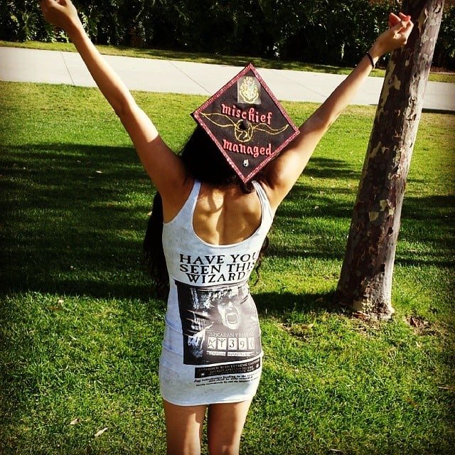 You can copy this Hogwarts cap, but only if you wear that dress, too.  Source: Instagram user nadia_nice