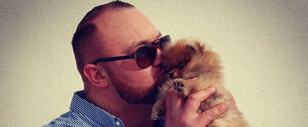 "Attention: Game of Thrones's ""The Mountain"" Has a Tiny, Fluffy Puppy"