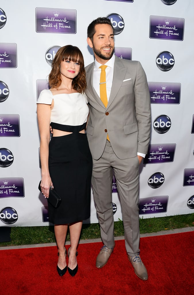 Alexis Bledel posed with Zachary Levi on the red carpet.