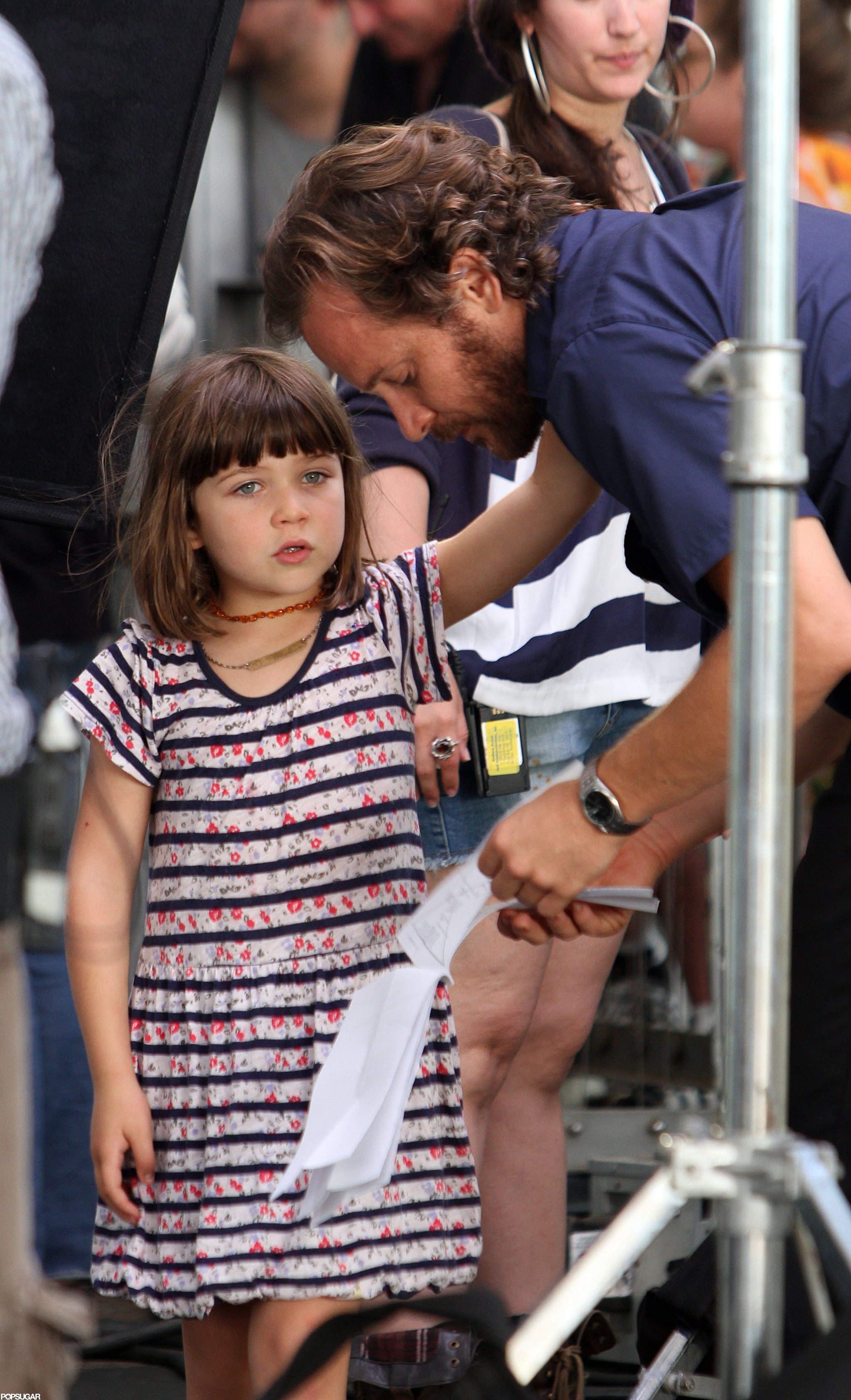 Peter Sarsgaard hung out with daughter Ramona on set in NYC.