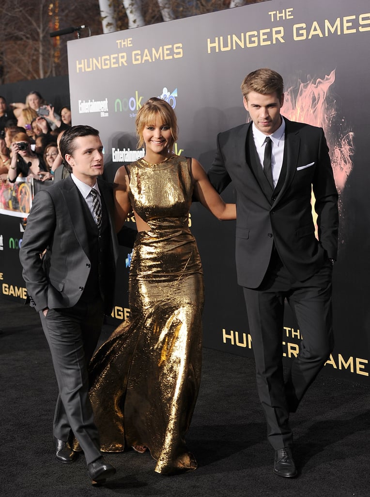 Josh Hutcherson, Jennifer Lawrence, and Liam Hemsworth dressed up for the LA premiere in March.