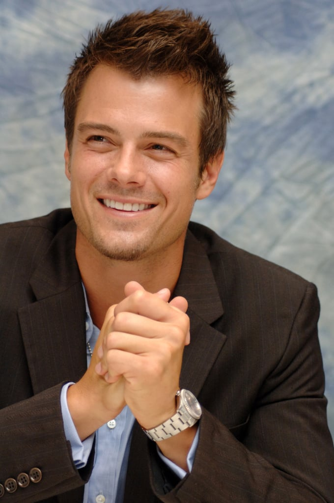 Josh was all smiles during a press conference for Las Vegas in August 2005.