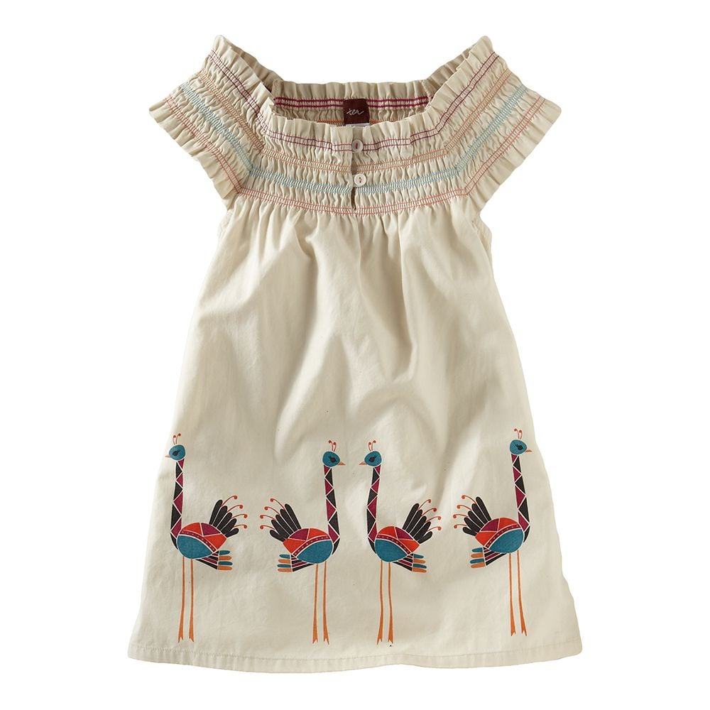 Tea Collection Ostrich Smocked Minidress