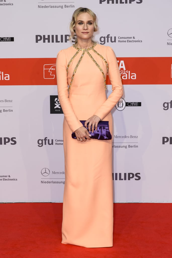Looking pretty in a peachy Prada gown at the the IFA 2014 Consumer Technology Trade Fair Opening Gala.