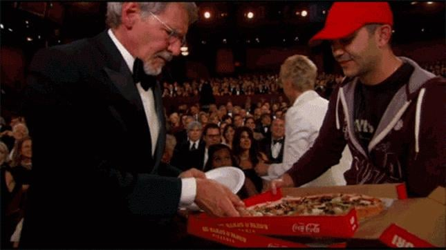 Most Unabashed Pizza Acquirement: Harrison Ford