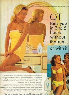 Self-Tanner Formulations Remain the Same After 40 Years