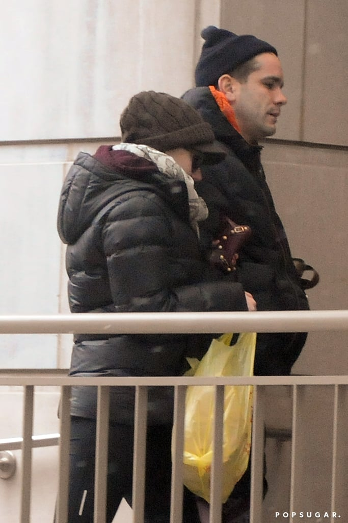Scarlett Johansson Takes a Snowy City Stroll With Romain