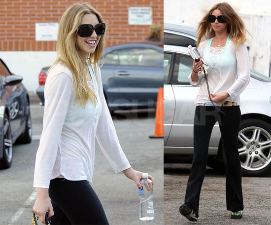Photos of The City's Whitney Port Heading to the Gym in LA
