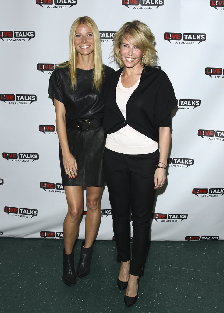 Gwyneth Paltrow and Chelsea Handler buddied up before the actress interviewed the comedienne at an event in LA on Tuesday.