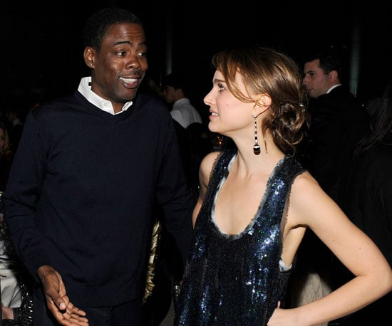 Slide Photo of Chris Rock and Natalie Portman Chatting Backstage At The Gotham Independent Film Awards