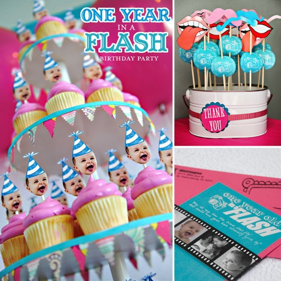 One Year in a Flash First Birthday Party