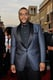 Tyler Perry looked dapper in a blue and black jacket.
