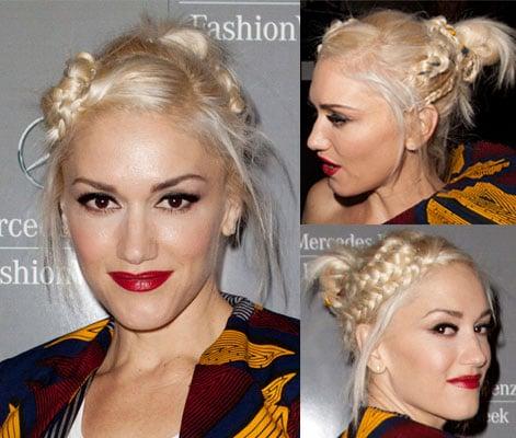 Gwen Stefani's Hair at the LAMB Show During 2011 Spring New York Fashion Week