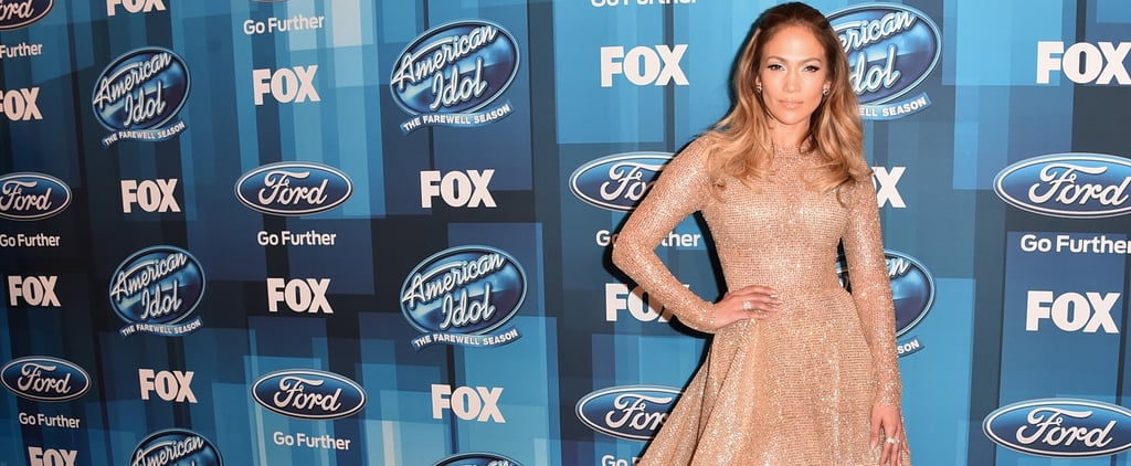 There's No End to the Sparkle on J Lo's Giant American Idol Finale Dress