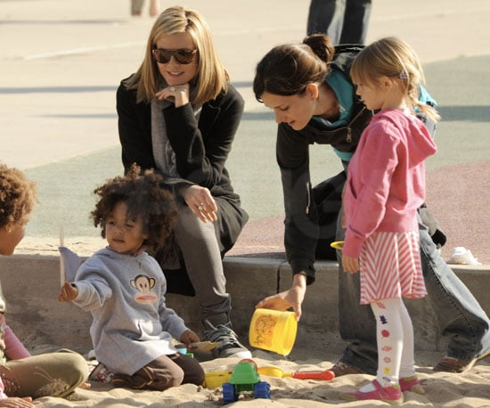 Photos of Heidi Klum with Johan and Leni at the Park