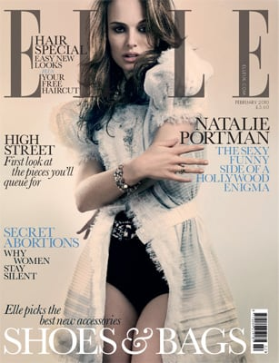 Photos of Natalie Portman on the Cover of British Elle Magazine Talking About Nudity and New Movie Brothers