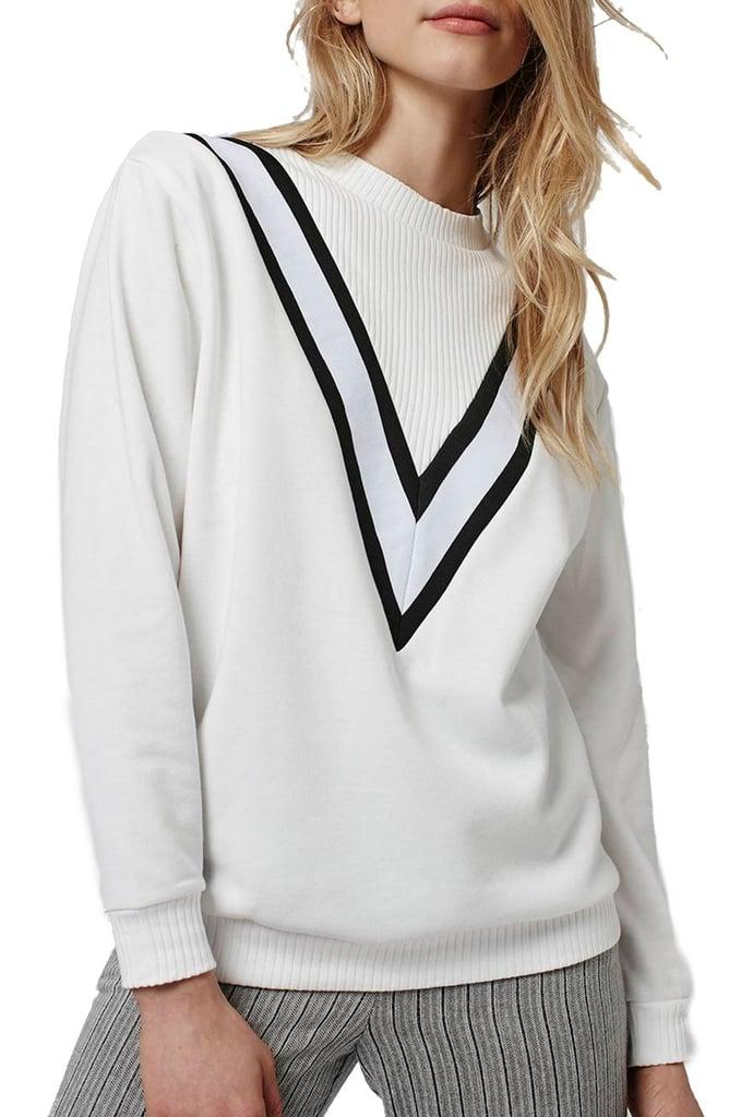Topshop Sporty Colorblock Sweatshirt ($52)