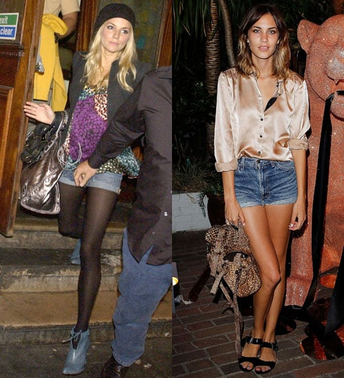 Showing off their gams in cutoffs once again — this time with more dressed-up toppers.