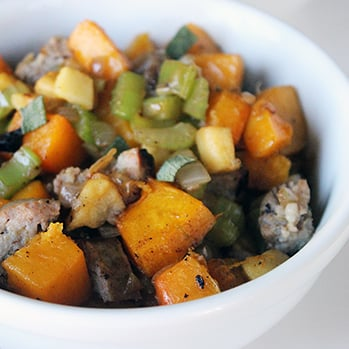 Sausage, Apple, and Butternut Squash Stuffing