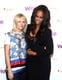 Laura Brown and Tyra Banks made an eye-catching pair while speaking on a panel at the WIE Symposium in New York.