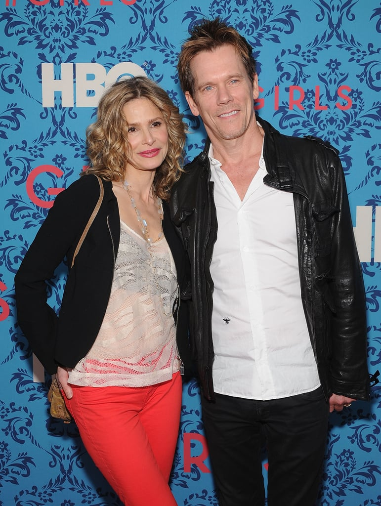 Kyra Sedgwick and Kevin Bacon smiled together at the premiere of HBO's new series Girls in NYC.