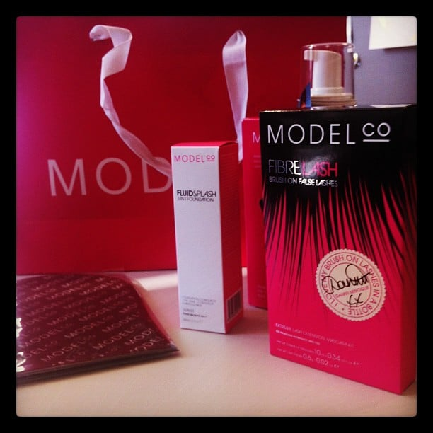Good things always come in pink packaging! It was tan-time for Bella with ModelCo.