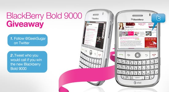 Win a White BlackBerry Bold 9000 From GeekSugar on Twitter!